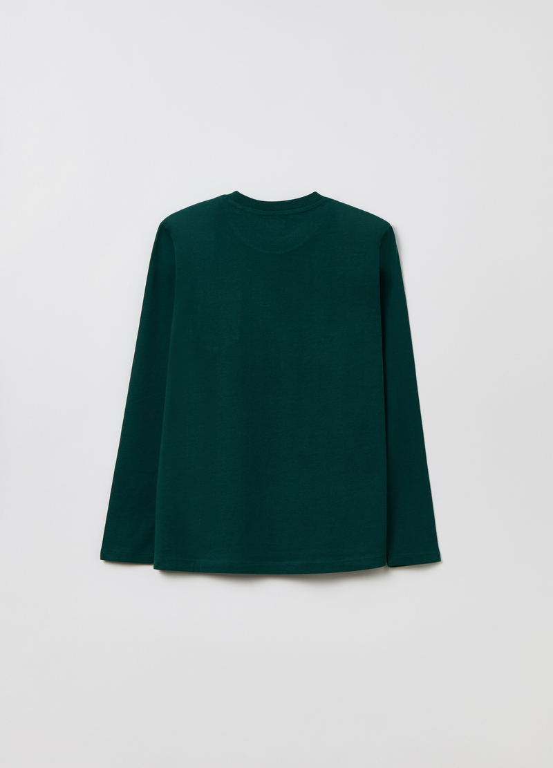 Long-sleeved T-shirt with pocket image number null