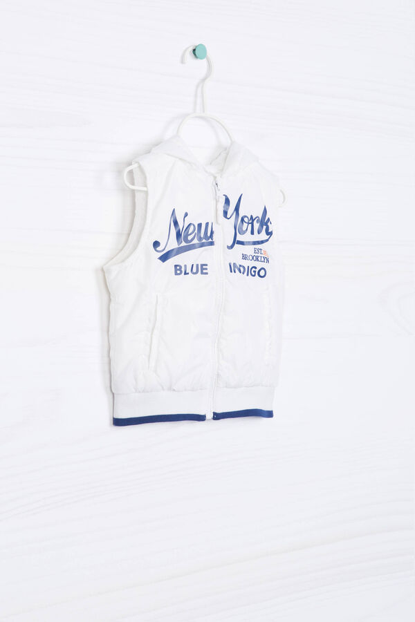 Quilted waistcoat with printed lettering | OVS