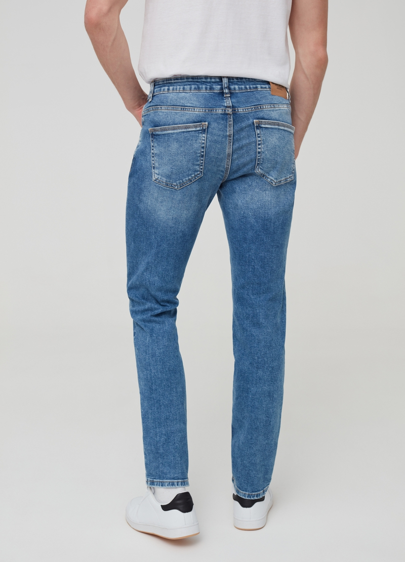 Mis-dyed effect skinny-fit jeans image number null