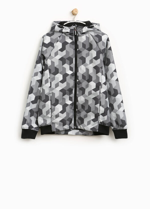 Jacket with all-over geometric print | OVS