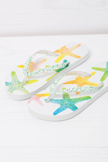 Patterned thong sandals