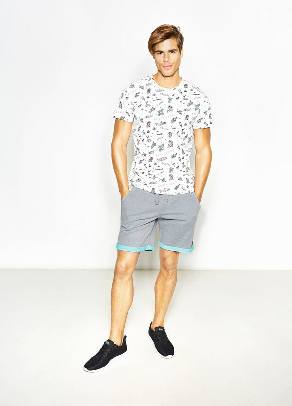 T-shirt with all-over print by Maui and Sons | OVS
