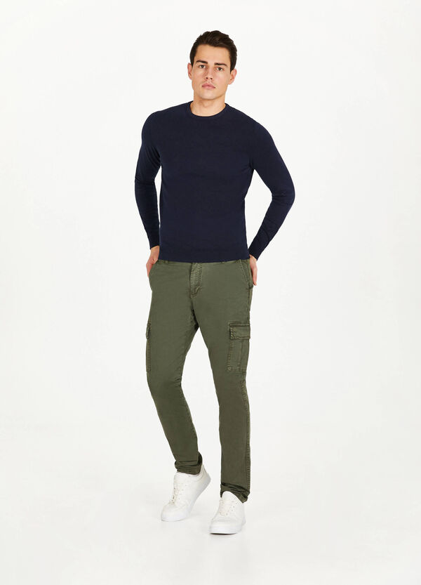 Slim fit, stretch cargo chino trousers