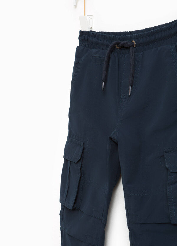 Cotton blend cargo trousers | OVS