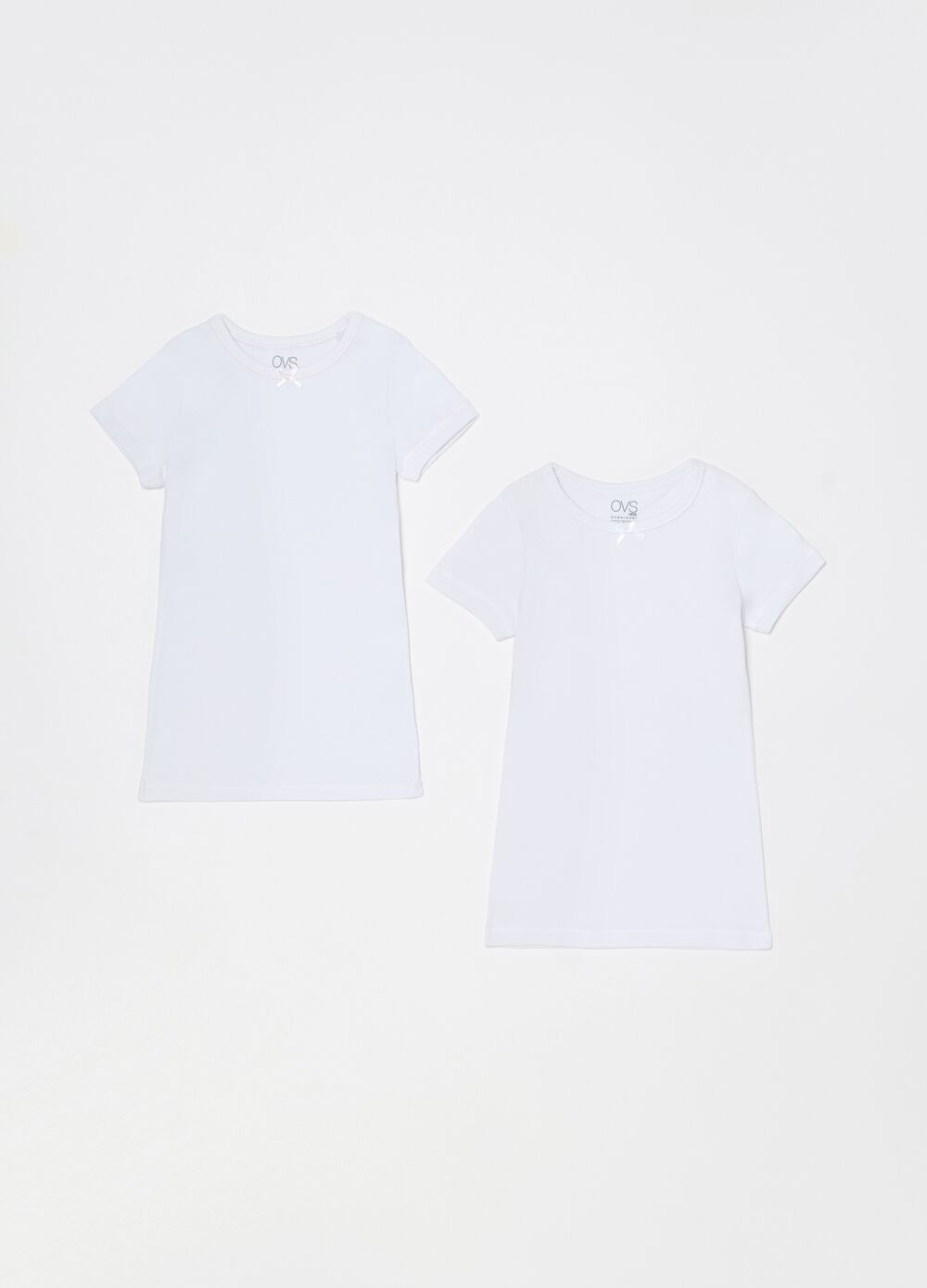 Two-pack undershirts with bow