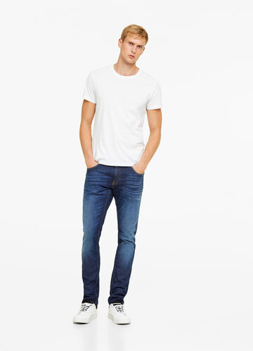 Slim-fit stretch jeans in T-blend fabric