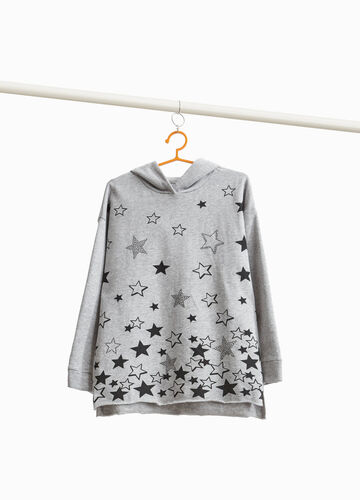 Star cotton and viscose sweatshirt