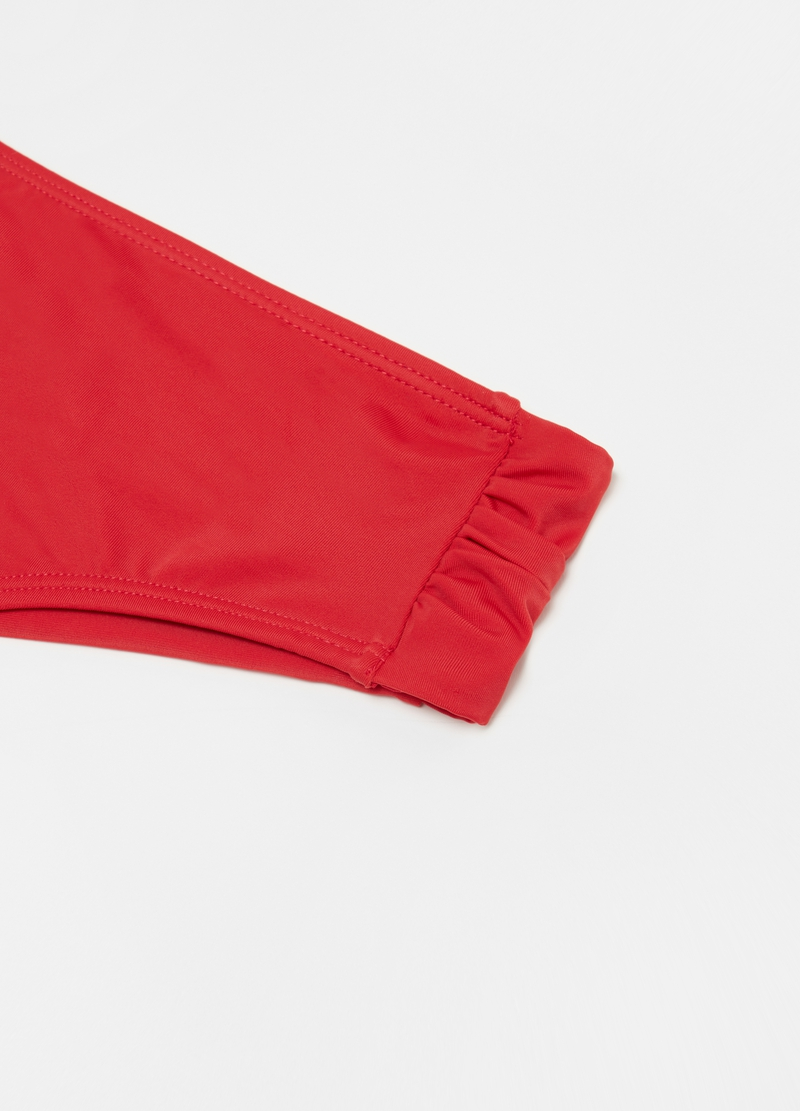Solid colour high-waisted bikini briefs image number null