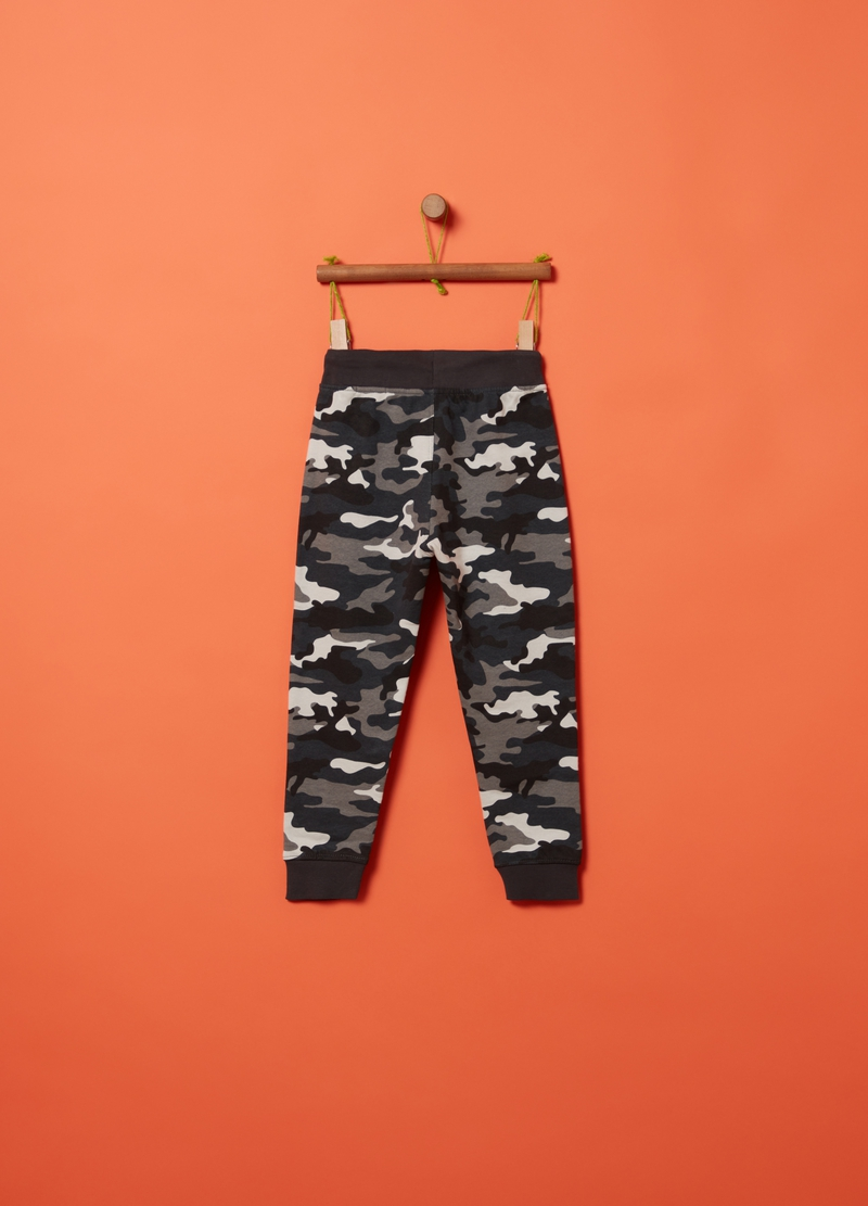 Camouflage patterned jogger trousers image number null