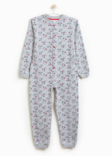 Sleepsuit with animal pattern