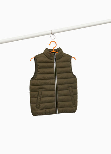 Quilted waistcoat with high collar