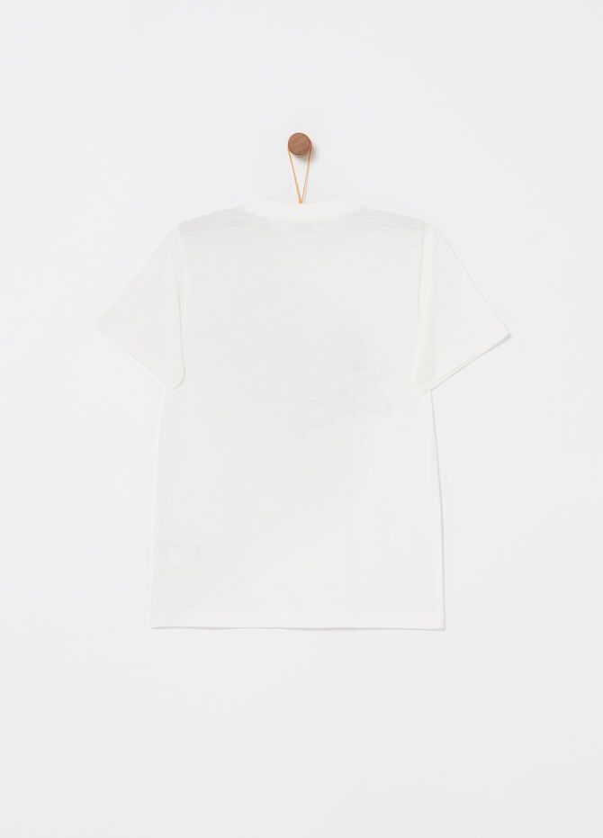 Jersey T-shirt with pocket and print