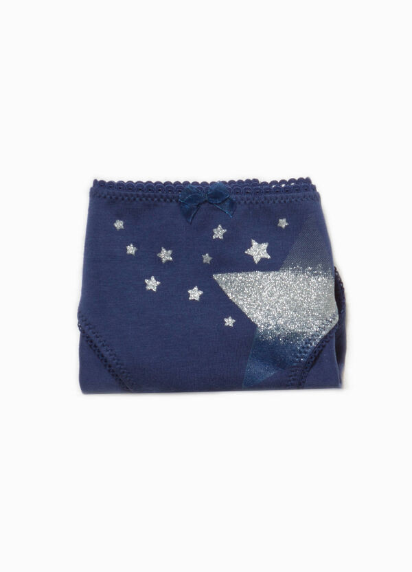 Organic cotton stretch briefs with stars | OVS