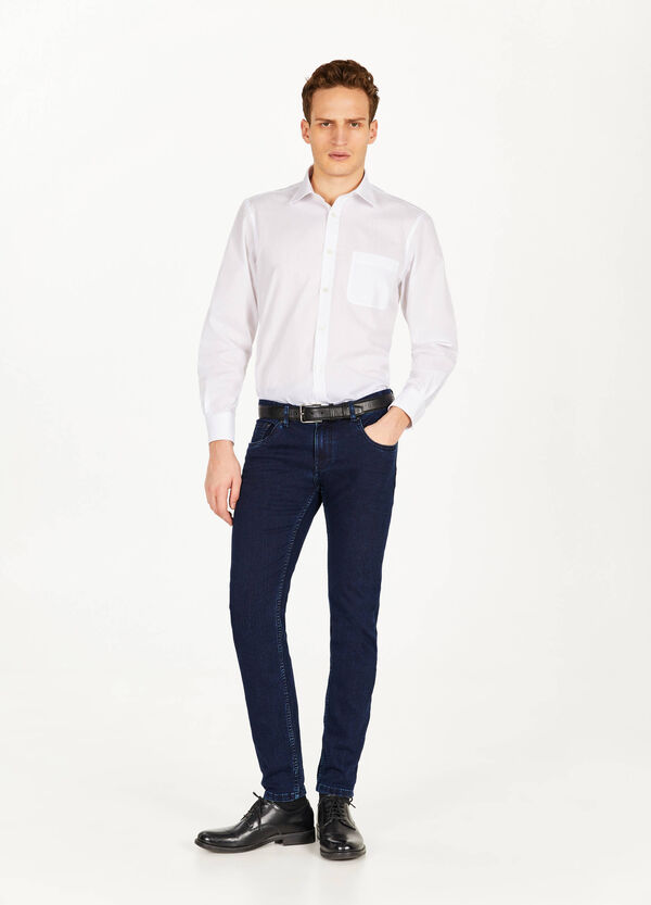 Casual-fit formal shirt with breast pocket