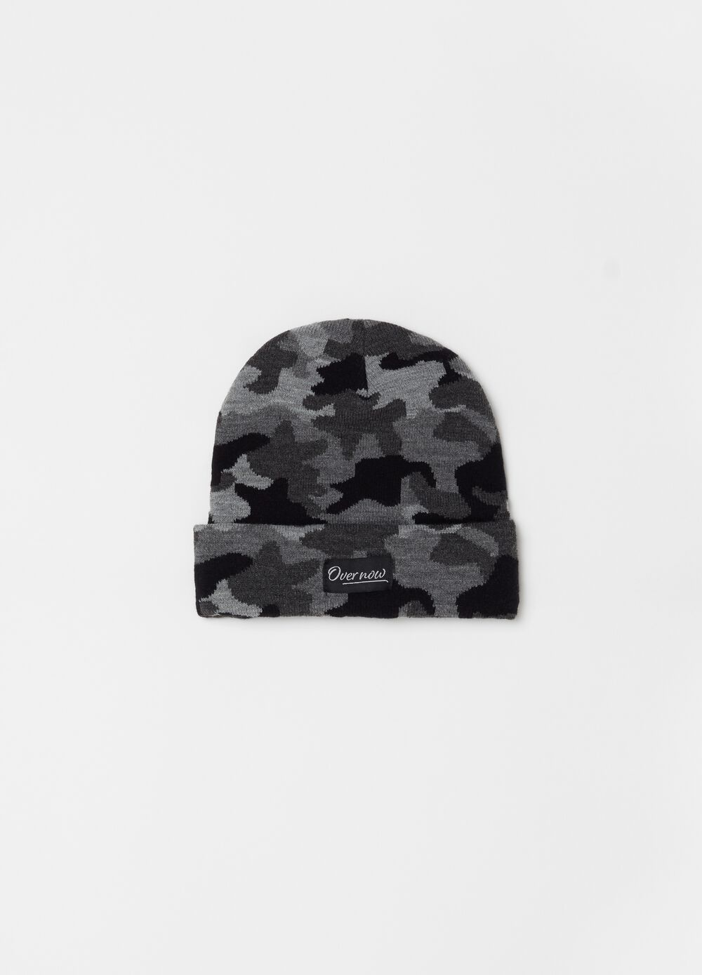 Soft beanie with camouflage turn-up