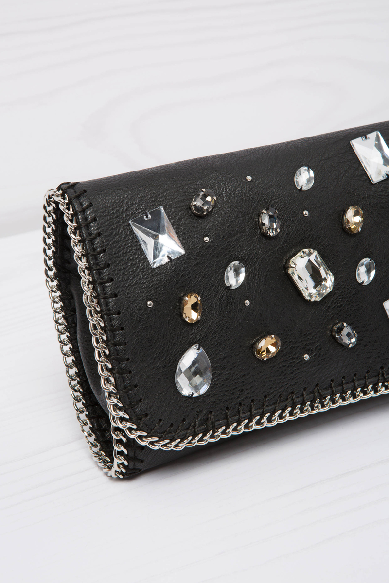 Pochette con strass image number null