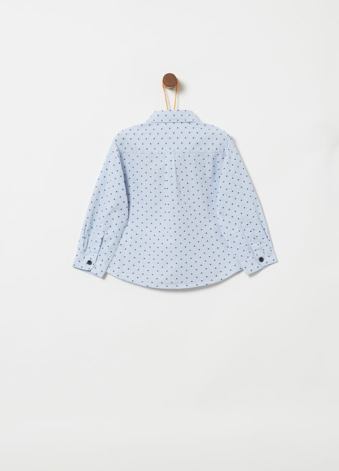 Stripes and polka dot shirt in 100% cotton