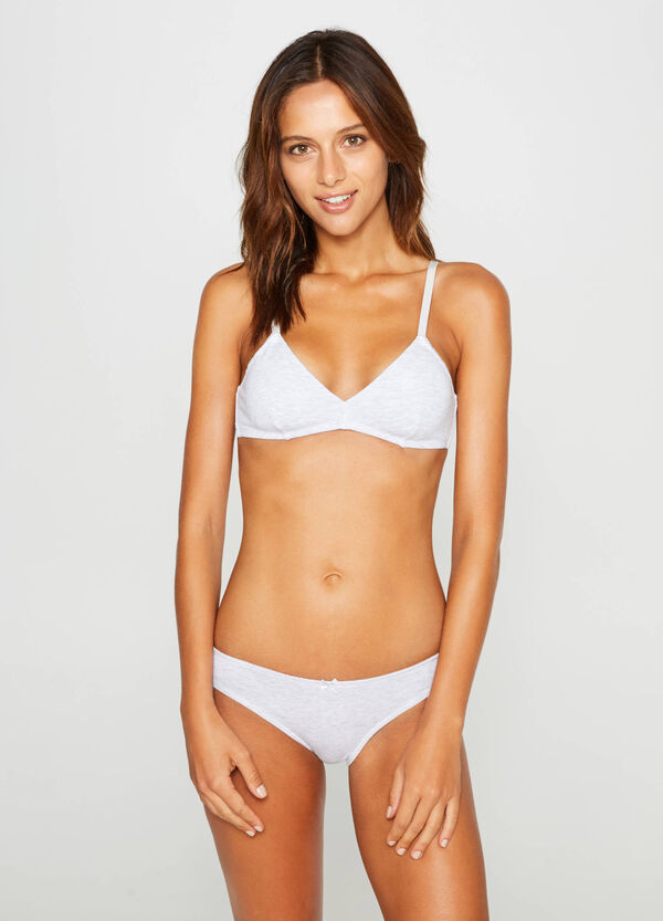 Two-pack soft cotton triangle bras | OVS