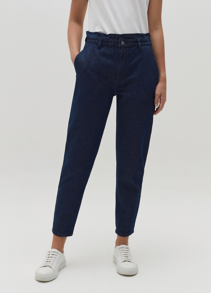 Slouchy jeans with high waist image number null