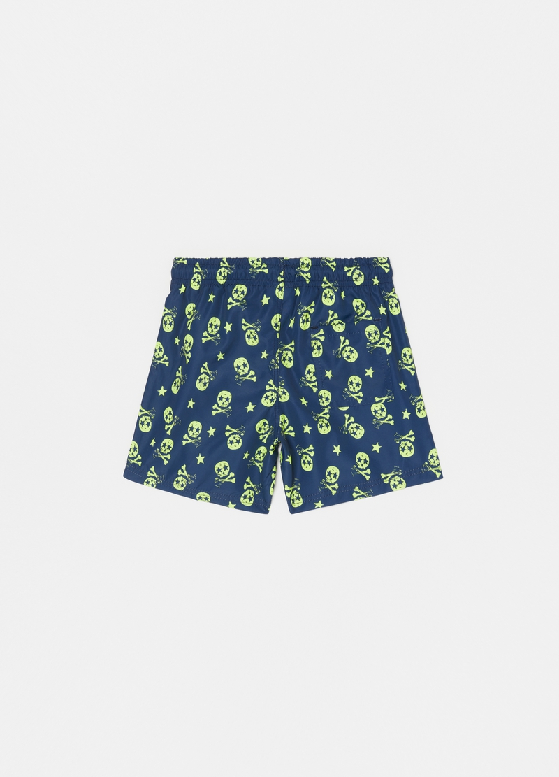 Swimsuit with stars and skulls image number null