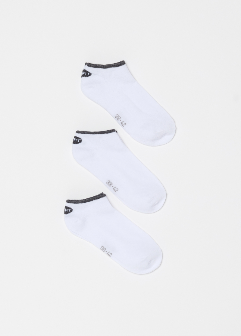 Three-pack short socks with print image number null