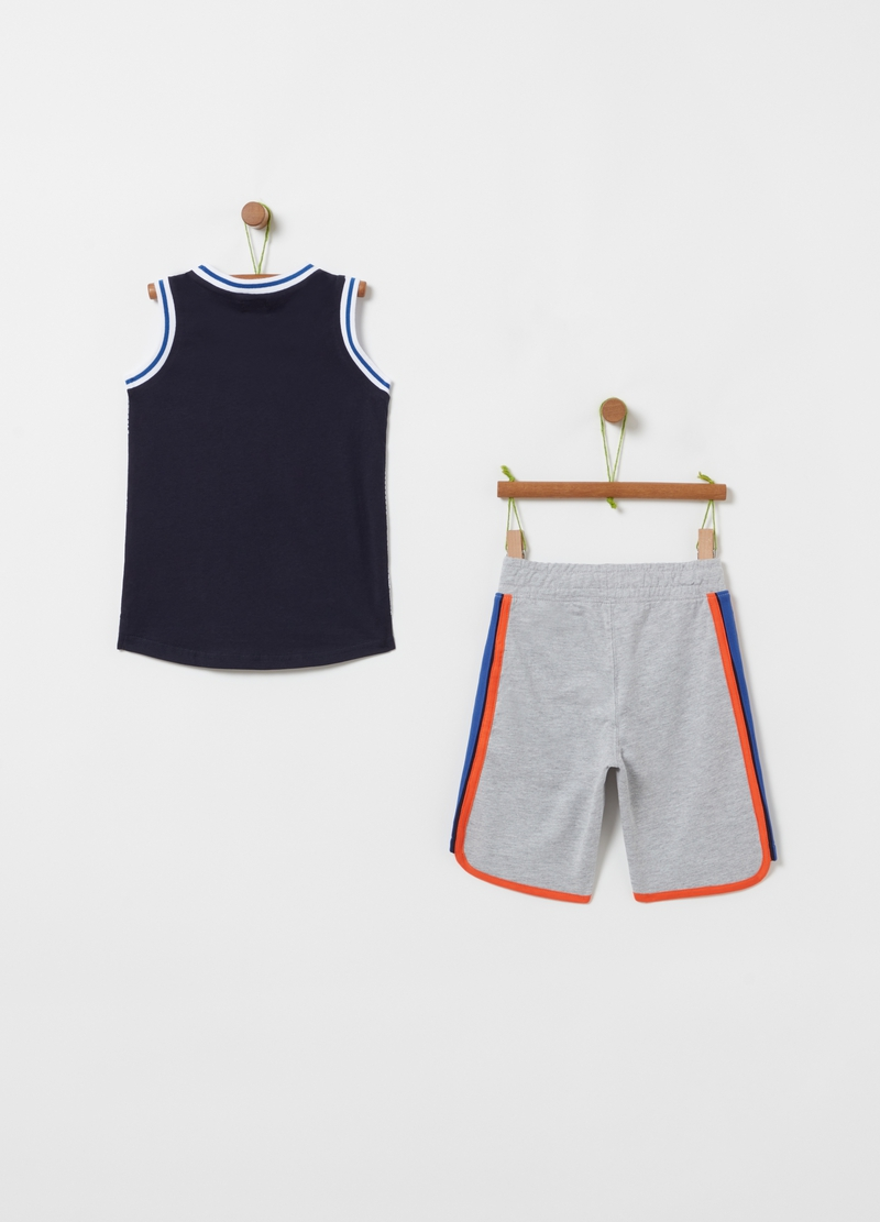 Jogging set with basketball print image number null