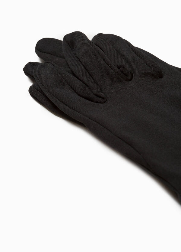 Solid colour stretch gloves