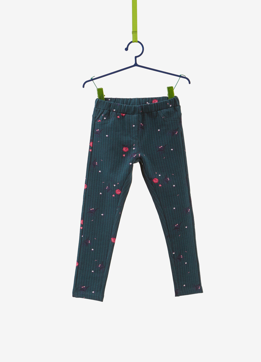 Jeggings misto cotone stampa floreale