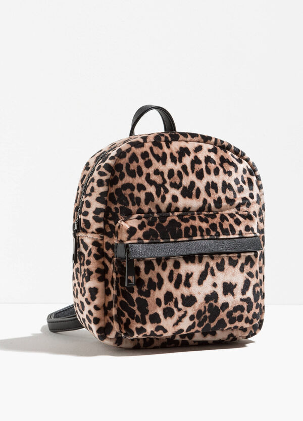 Backpack with animal print and zip | OVS