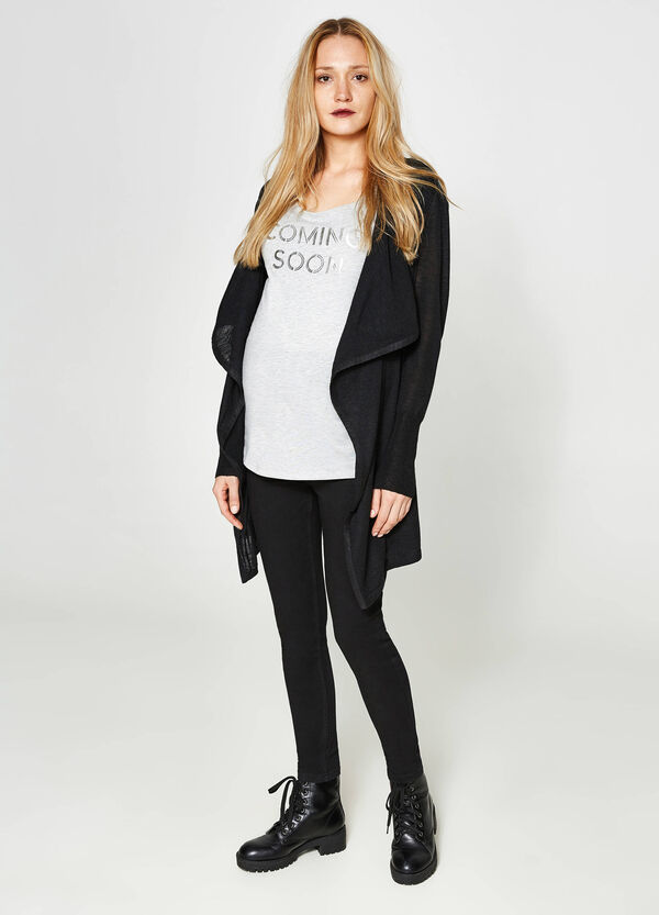 MUM long T-shirt with printed lettering | OVS