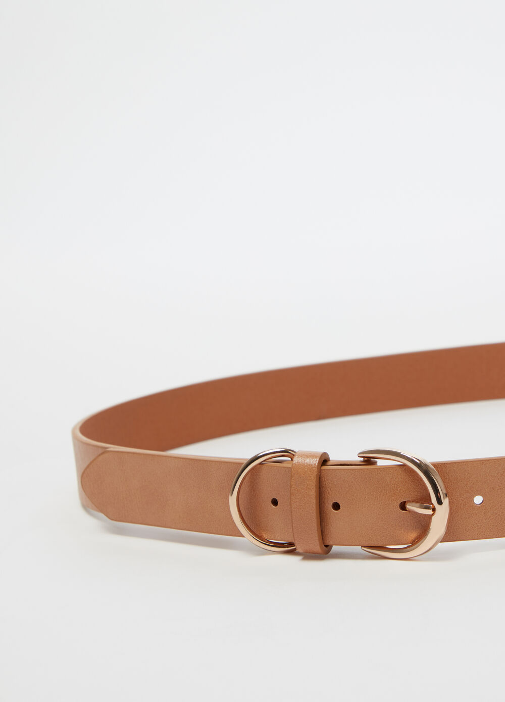 Belt with metal buckle and decorative detail