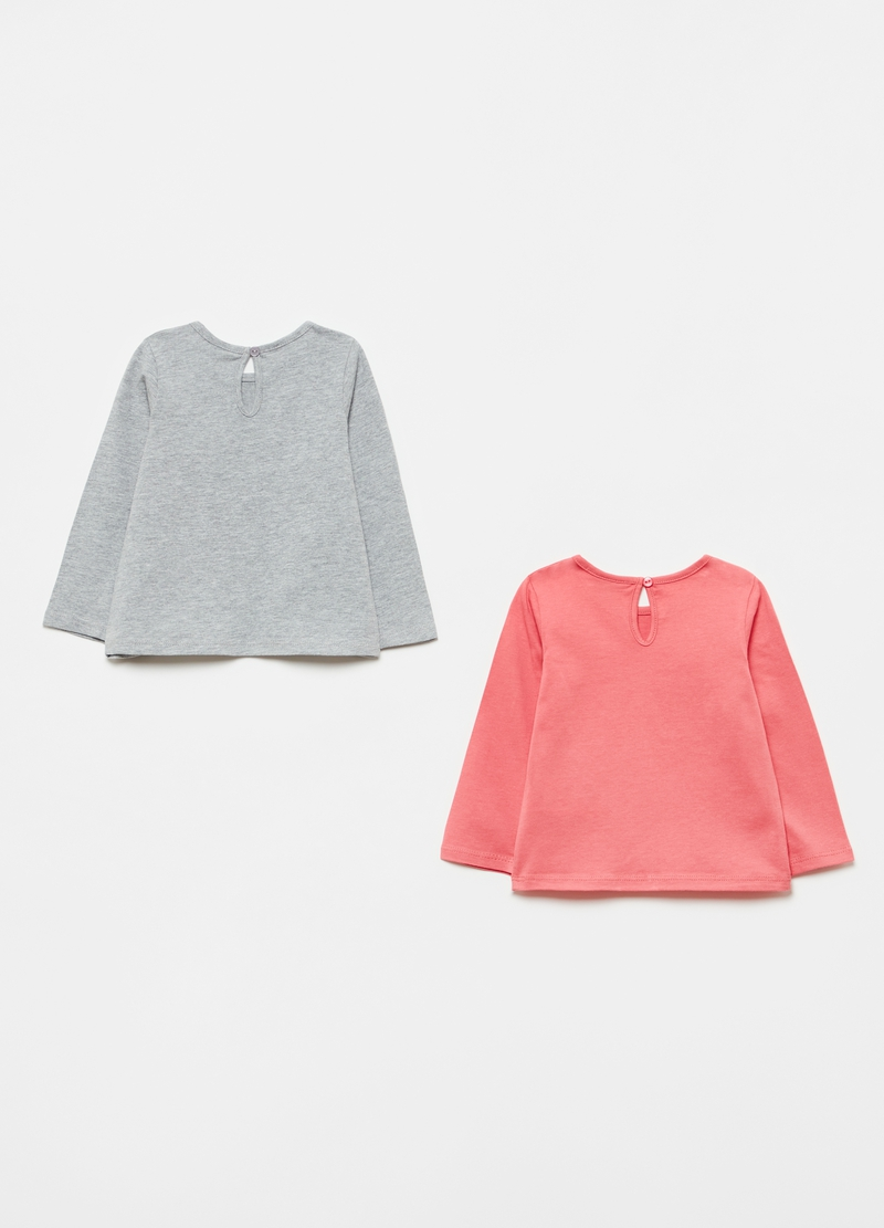 Bipack t-shirt in cotone bio stampa glitter image number null