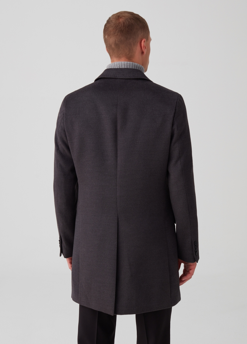 Three-button coat with jacket collar image number null