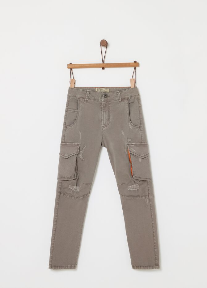 Cargo comfort fit in twill stretch tinto capo