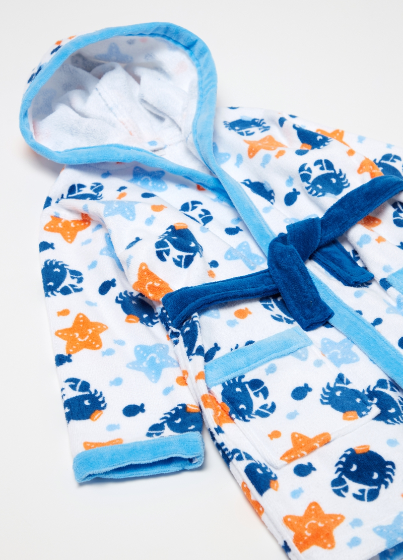 100% cotton patterned bathrobe image number null