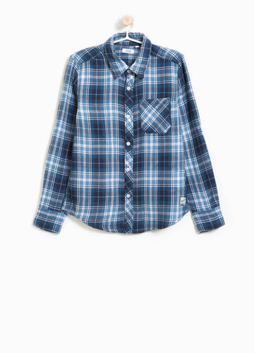 Tartan flannel shirt in 100% cotton.