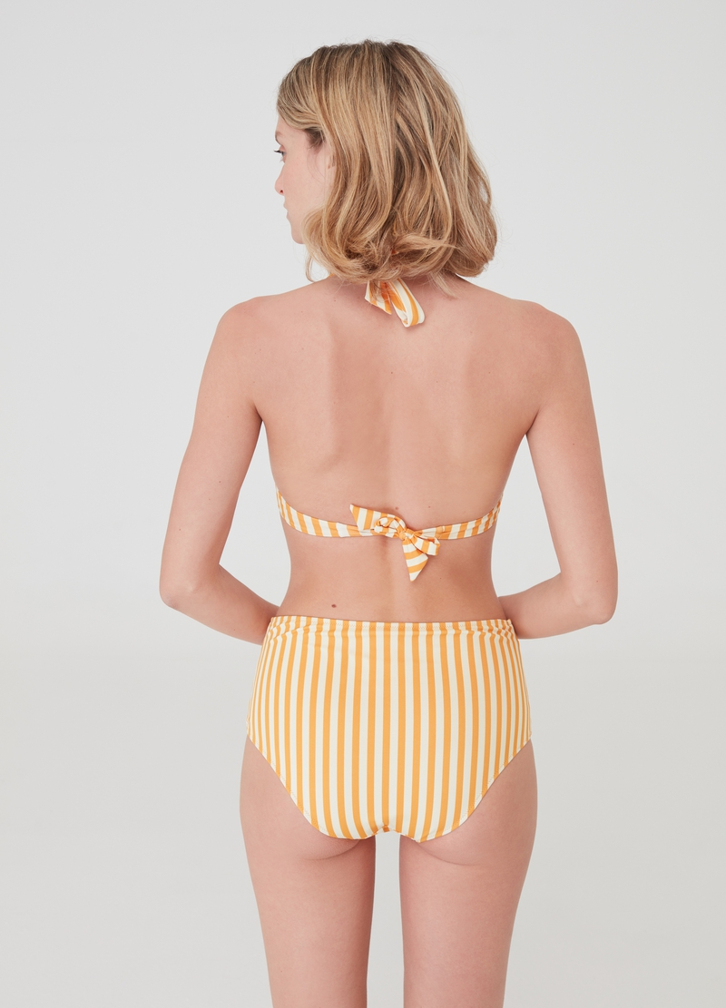 Bikini briefs with high waist and all-over print image number null