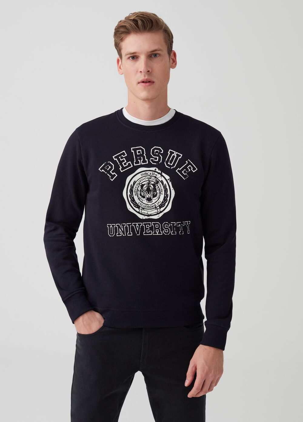 Letter print sweatshirt with crew neck