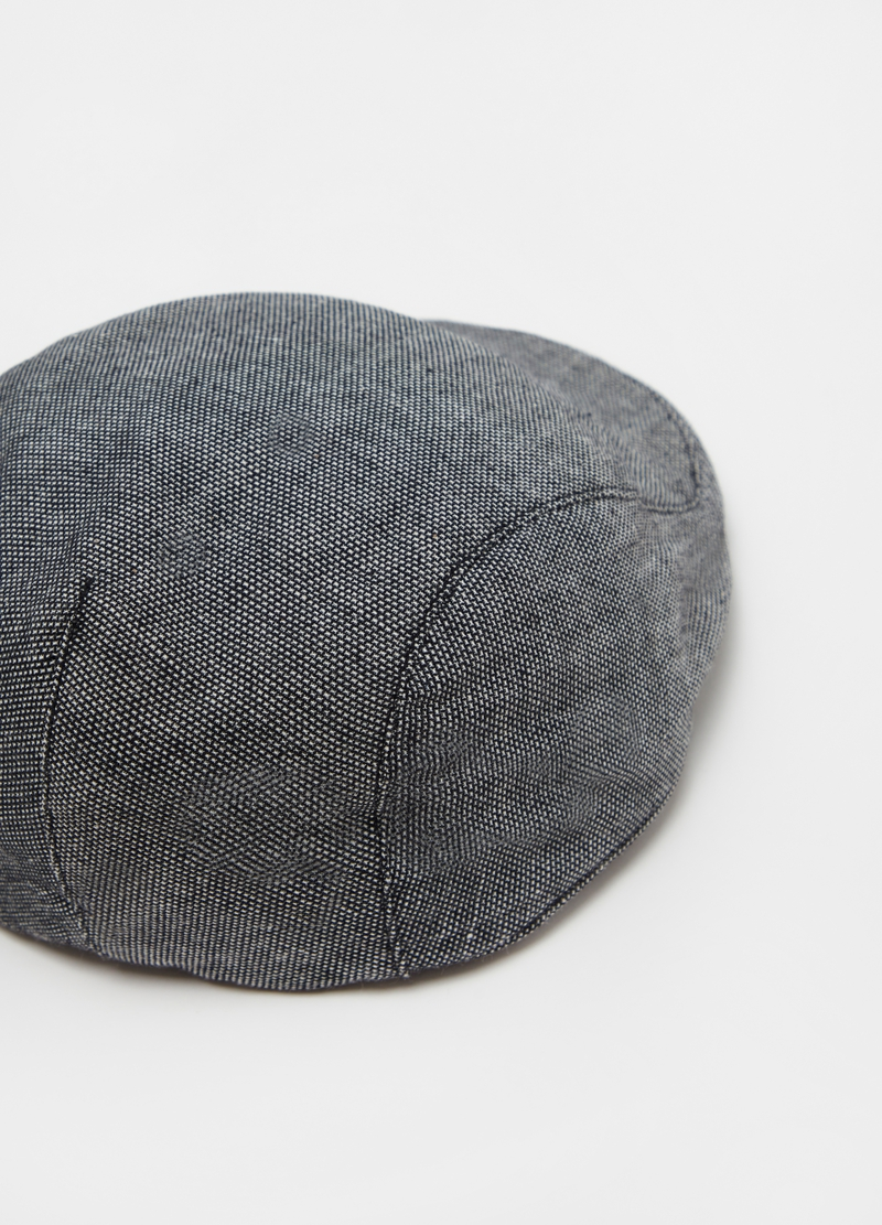 Cotton, viscose and ramie flat cap image number null