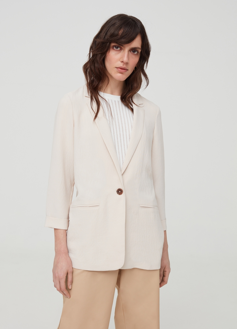 Blazer with lapels and pockets image number null