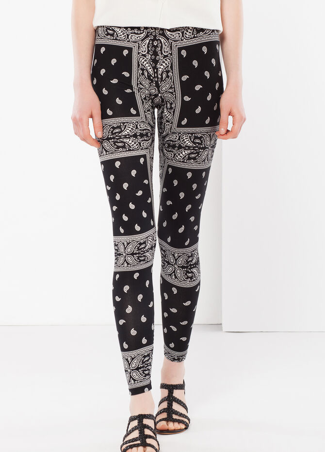 Patterned stretch leggings