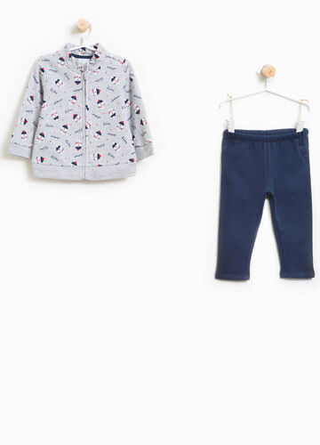 100% cotton tracksuit with Christmas pattern