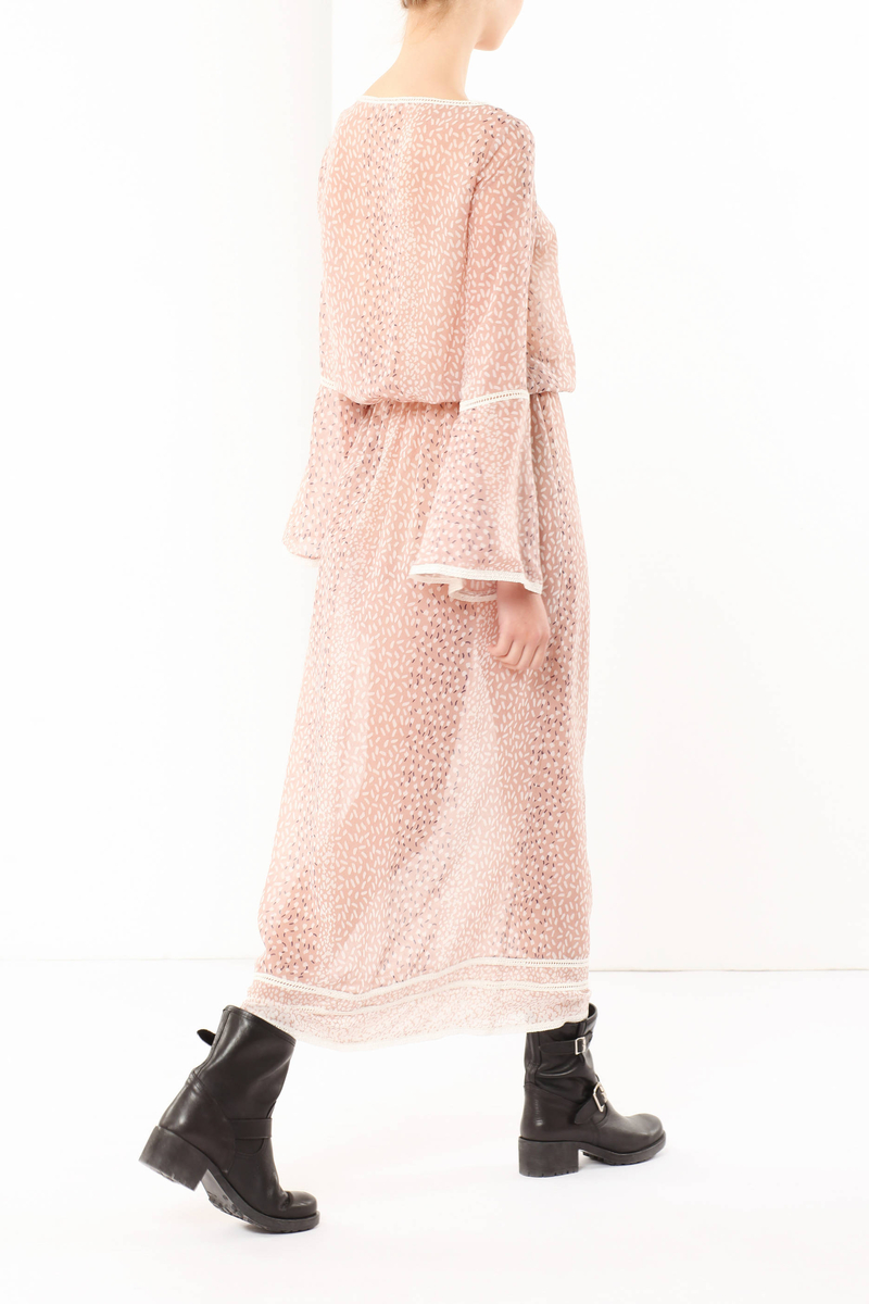 Long dress with self-tie closure image number null