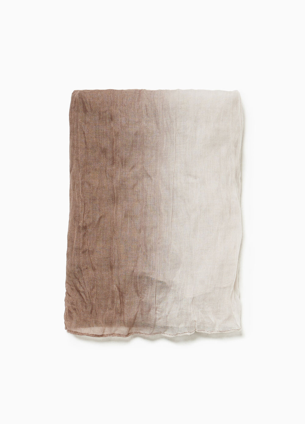 Solid colour scarf with faded effect