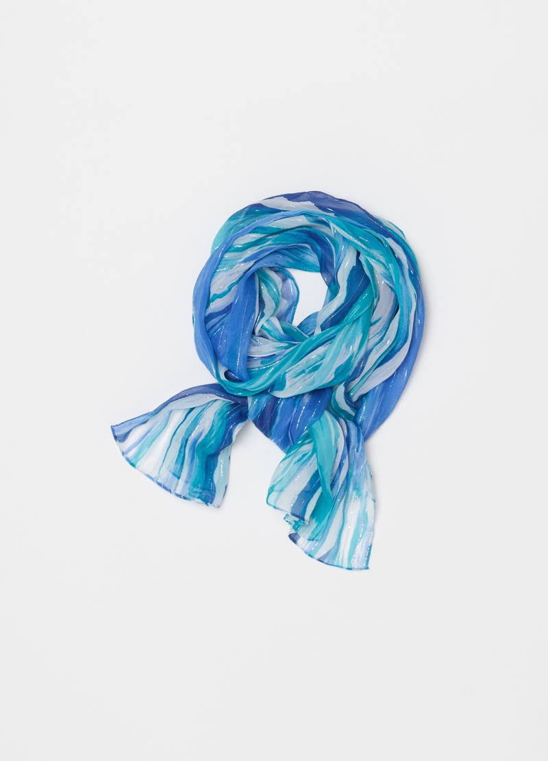 Scarf with lurex pattern image number null
