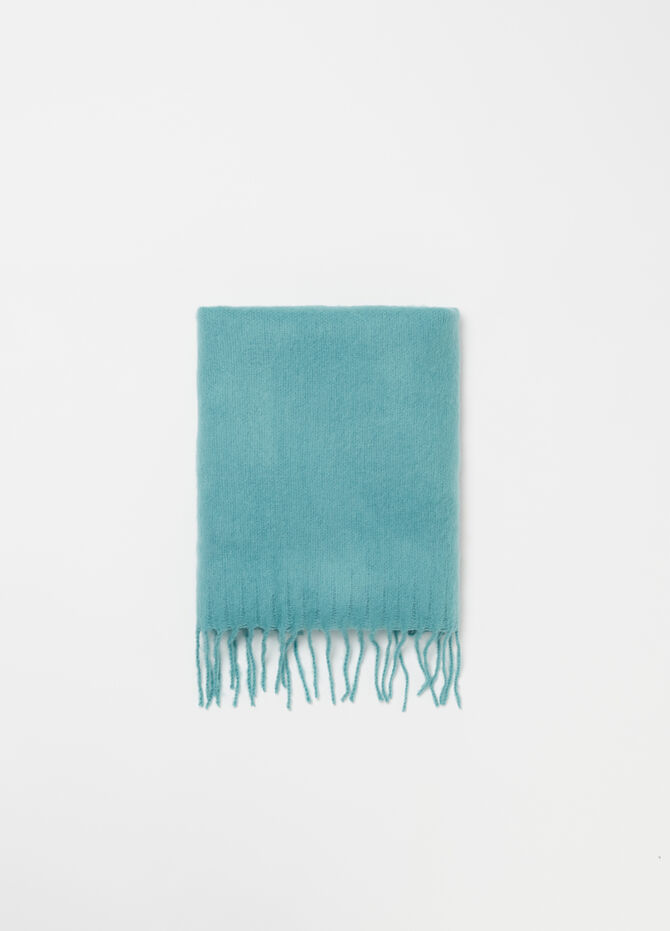 Maxi scarf with fringing