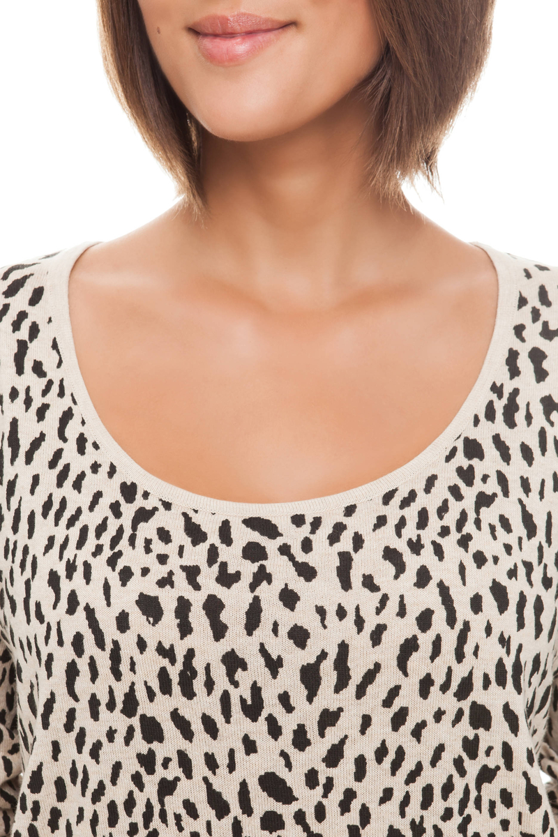 Maglia stampa animalier image number null