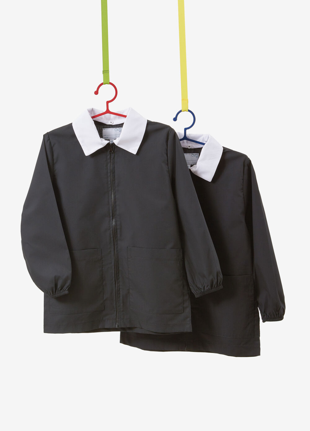 Set of two smocks in cotton blend with zip