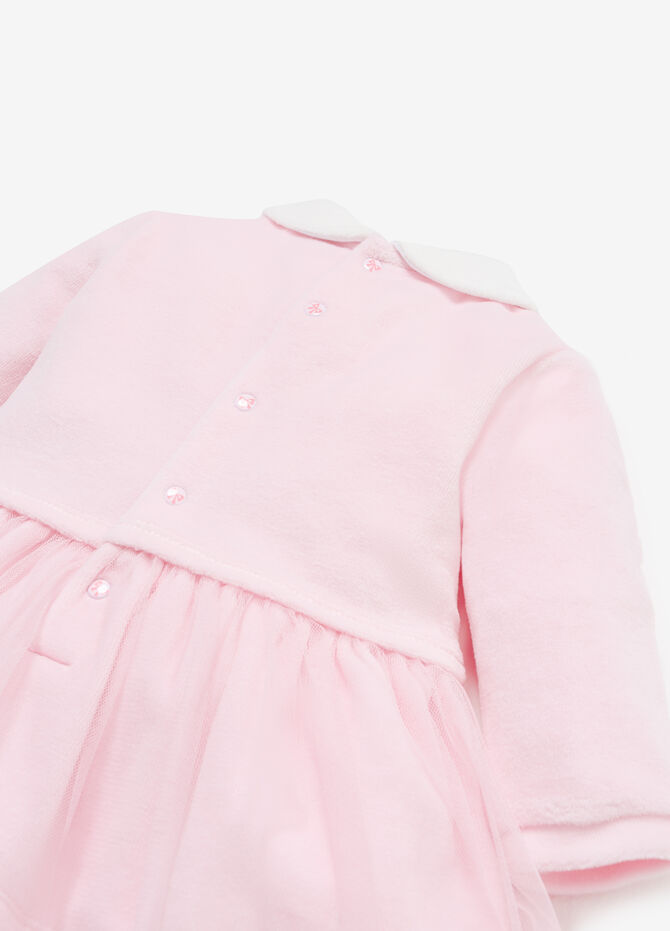 Dress in tulle with animal patches