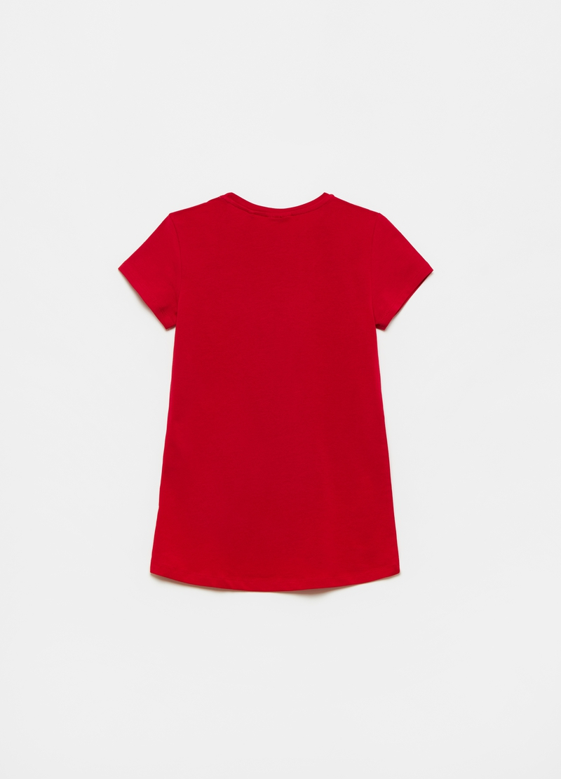 Stretch cotton T-shirt with stars print image number null